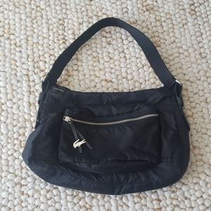 LACOSTE Black Signature Shoulder Bag